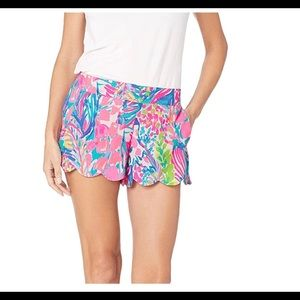 NEW Lilly Pulitzer Blue Pink Dahlia Summer Shorts